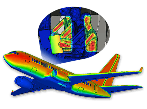 Image showing Thermal Radiation Results on Airplane with Passengers