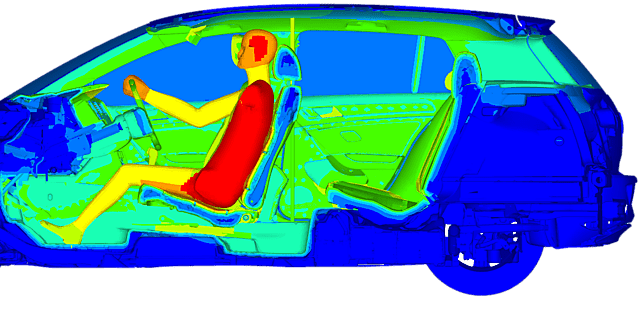 Image of Thermal Simulation Results of Car Interior for a typical Winter's Day