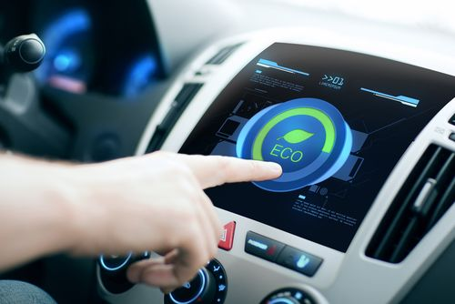 Image of Modern Climatization Control Instrument in Car