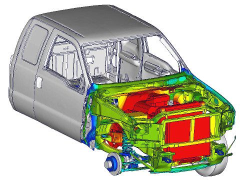 Thermal Results of Underhood Simulation of Car using THESEUS-FE