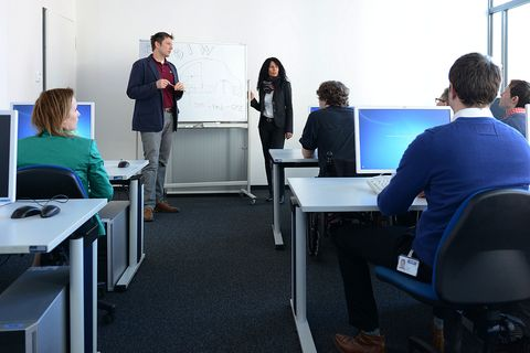 Image showing Training in one Room of the Training & Support Center at our Headquarter in Munich