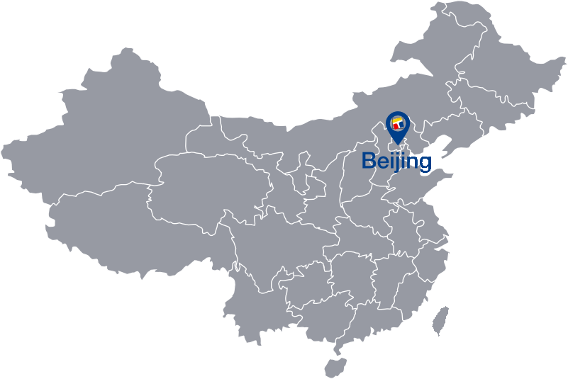 Map of China with Marker at FEAOnline Headquarter in Beijing
