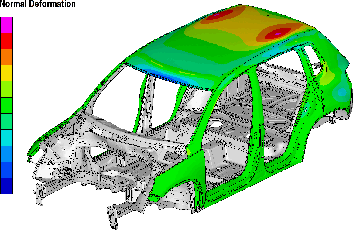 Image of Simulation Results of Structural Deformation Analysis using Temperature Results from THESEUS-FE