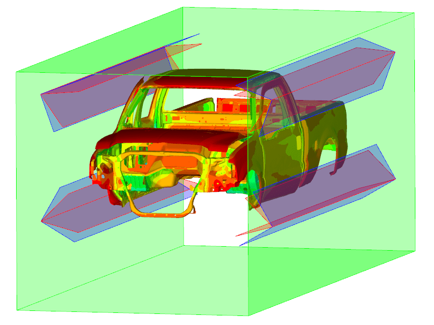 Image of Car Body with Thermal Results in Paint-Dryer