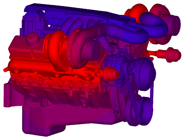 Image of Thermal Results on V8 engine