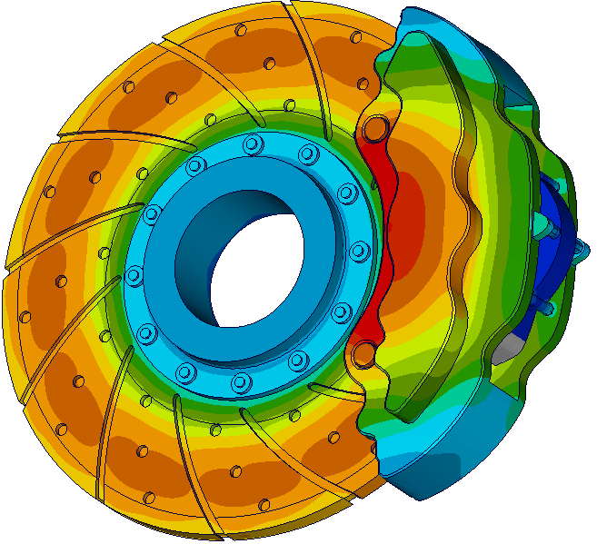Image of Thermal Results on Brake Disc