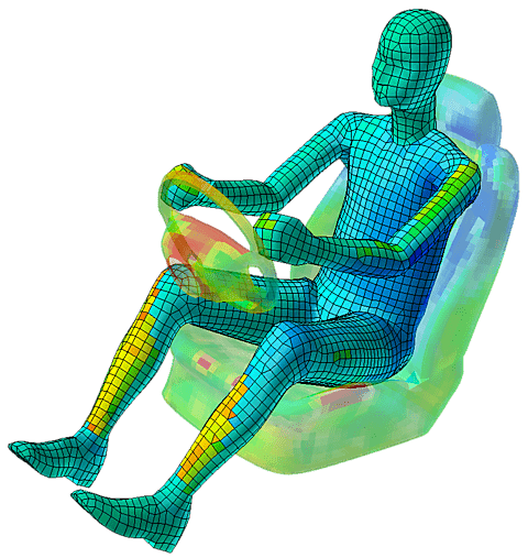 Image of Thermal analysis results on Car Driver